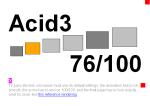 Risultato Acid3 per Firefox 3.1apre (2008060504 Minefield)