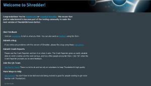 Nuova homepage della posta in Thunderbird 3.0b1pre