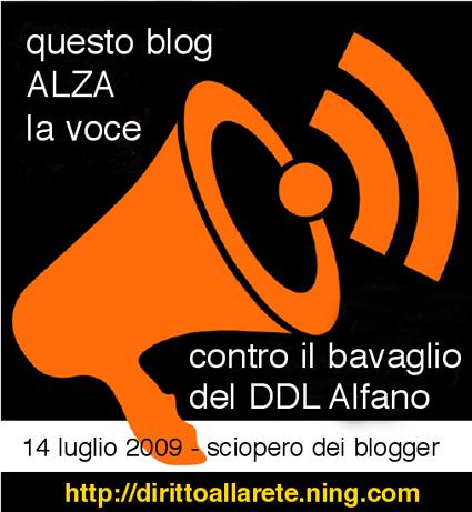 14 luglio 2009 - sciopero dei blogger
