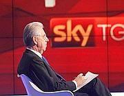 Mario Monti intervistato a SkyTg24