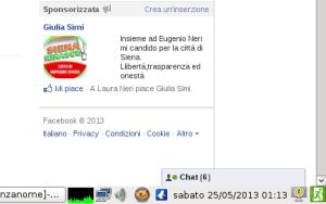 Giulia Simi non rispetta il silenzio elettorale