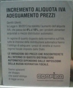 Incremento Alliquota IVA